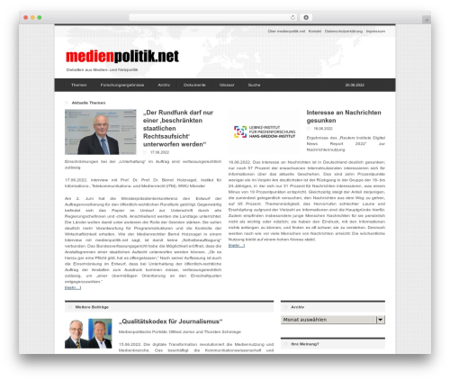 deFacto WordPress theme - medienpolitik.net