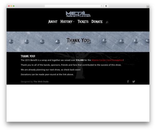Divi theme WordPress - metalagainstcancer.com