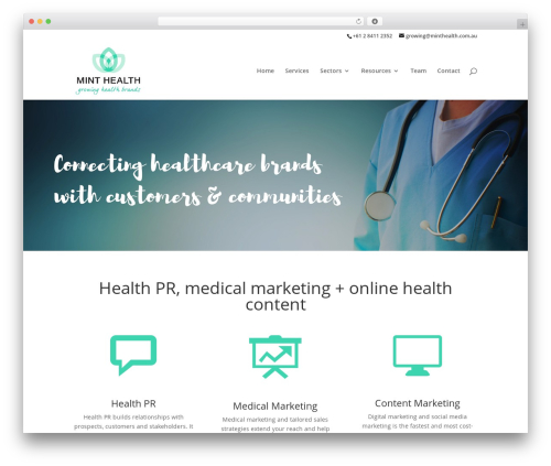 Divi WordPress theme - minthealth.com.au