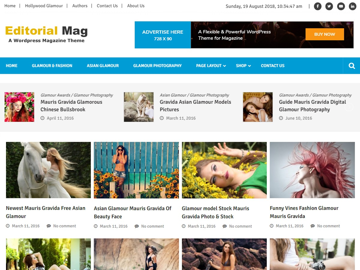 Editorialmag Lite WordPress magazine theme