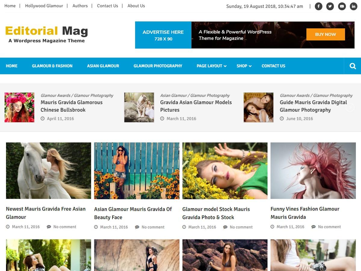 Editorialmag Lite WordPress magazine theme