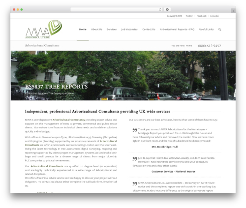 Enfold WordPress theme - mwaarboriculture.co.uk