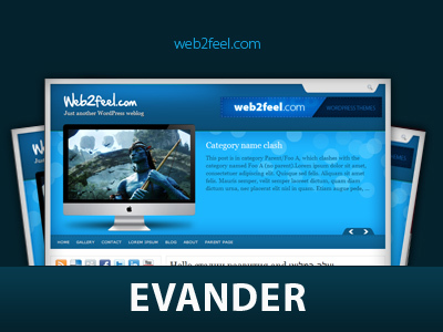 Evander WordPress theme