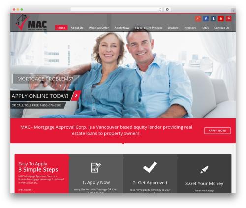 Kallyas best WordPress theme - mortgagebrokerbc.com