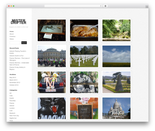 Photum WordPress blog theme - misterdrifter.com
