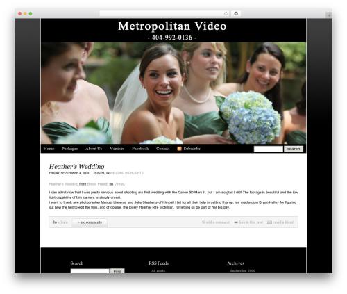 ProPhoto2 WordPress video template - metropolitanvideo.com