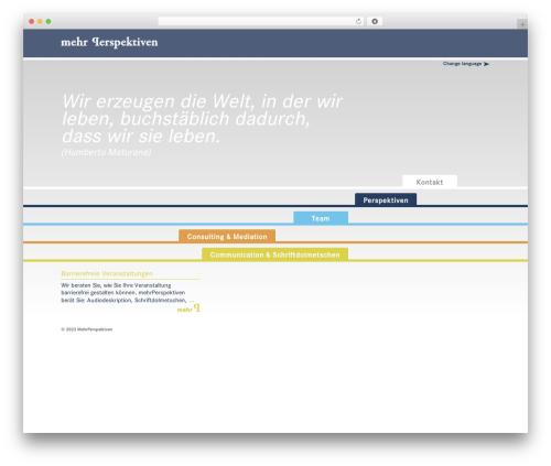 Responsive free WordPress theme - mehrperspektiven.de