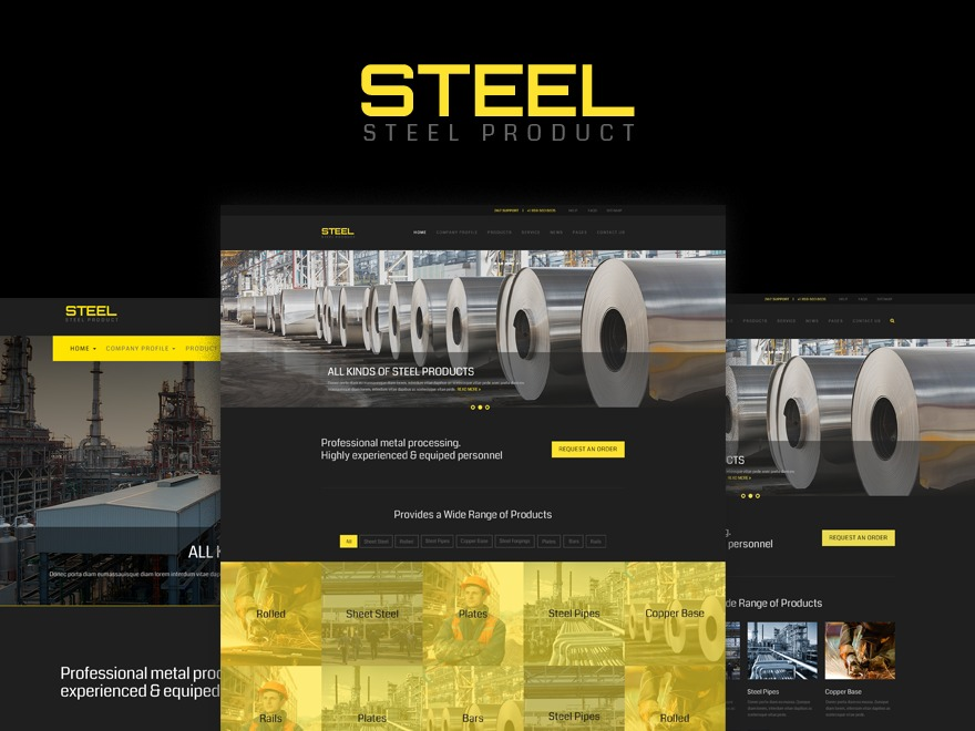 Steel WordPress template