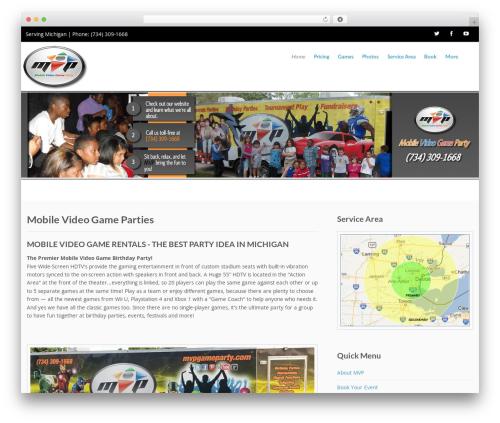 Template WordPress Flat Responsive Child - mvpgameparty.com