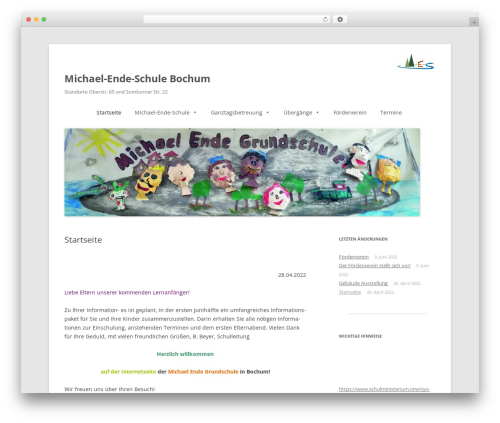 Template WordPress Twenty Twelve - michael-ende-schule-bochum.de