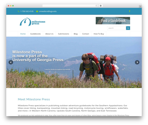 Total free WP theme - milestonepress.com