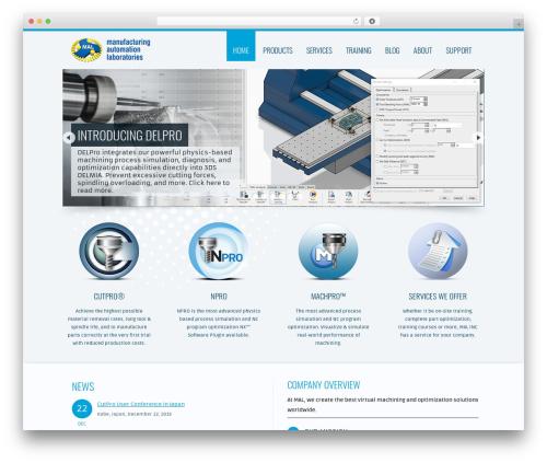 Trias WordPress website template - malinc.com