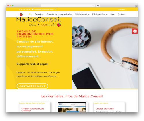 WordPress theme Divi - malice-conseil.com