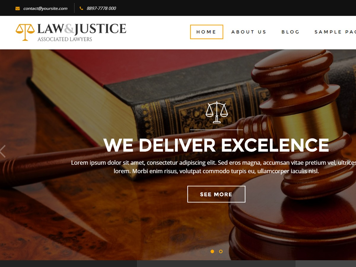 WordPress theme Law And Justice