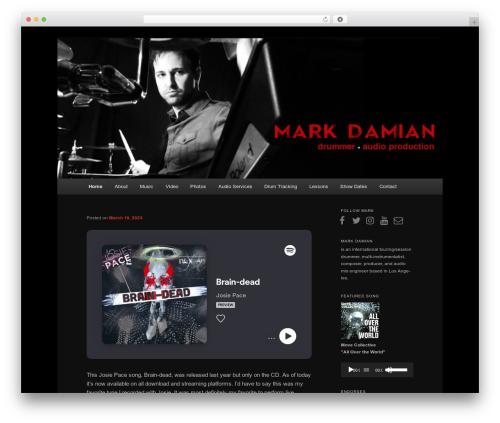 WordPress theme Twenty Eleven - markdamian.com
