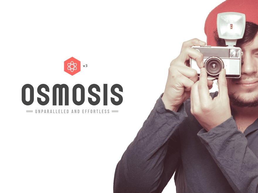 WordPress website template Osmosis