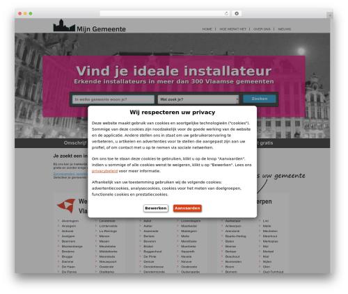 WordPress website template Real Property - mijn-gemeente.be
