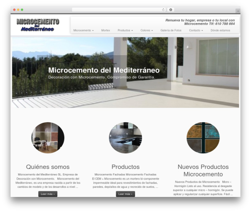 WP theme Customizr - microcementomediterraneo.com