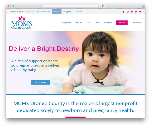 Avada WordPress website template - momsorangecounty.org