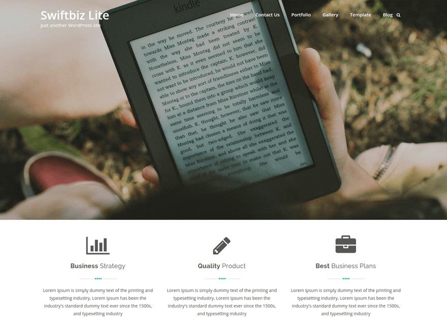Best WordPress template Swiftbiz Lite Child