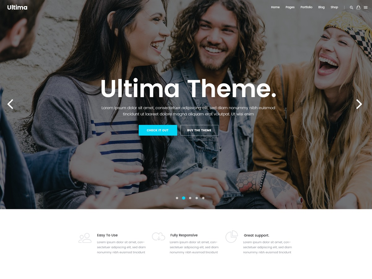Best WordPress template Ultima Child