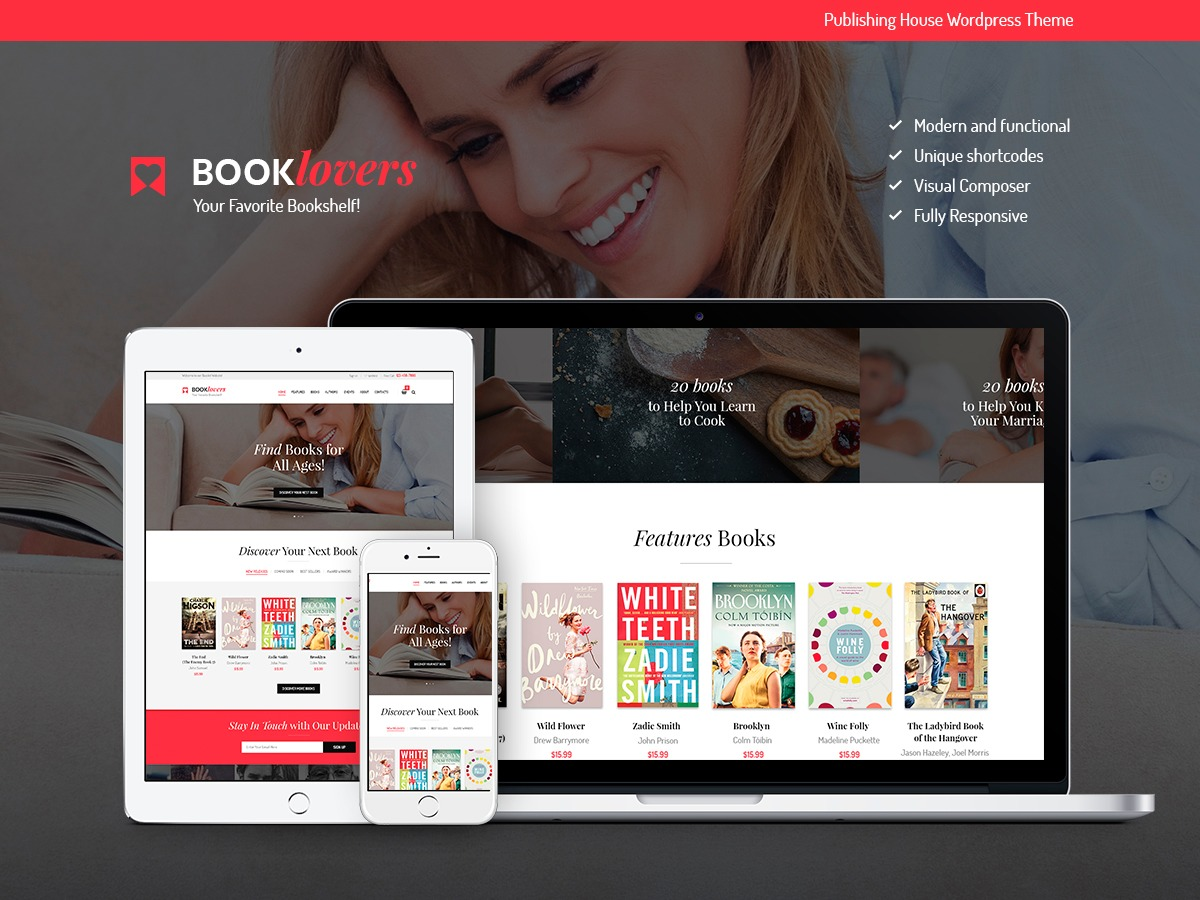 Booklovers template WordPress