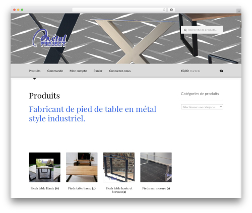 Boutique free WP theme - metal-project.be
