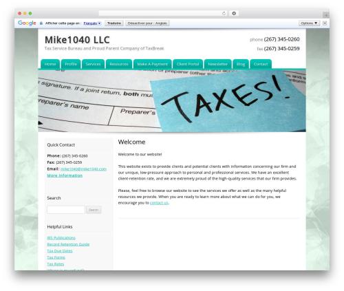 Customized company WordPress theme - mike1040.com