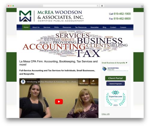 Customized company WordPress theme - mwa-cpa.com