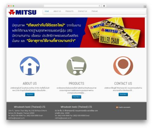 Customizr free WordPress theme - mitsuboshi-thailand.com