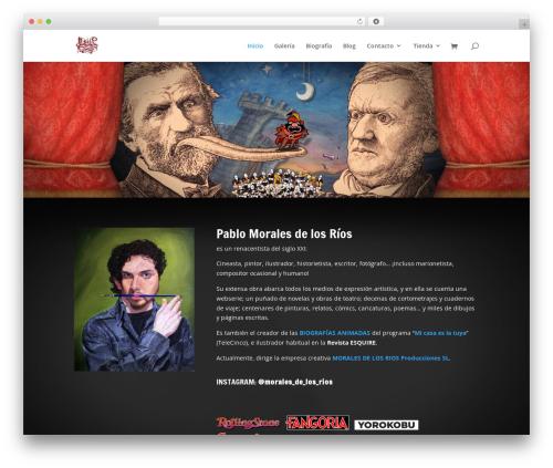 Divi WordPress theme - moralesdelosrios.com