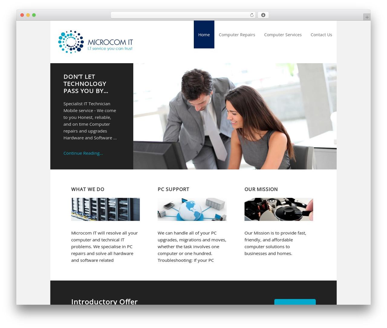 Executive Child Theme WordPress template - microcomit.com.au