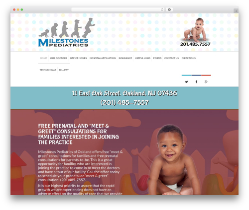Kidslife top WordPress theme - milestonespediatrics.com