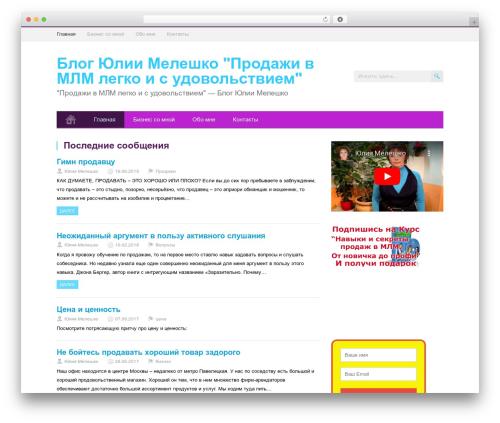 MidnightCity theme WordPress - mlm-lady.ru