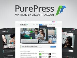 PurePress theme WordPress portfolio