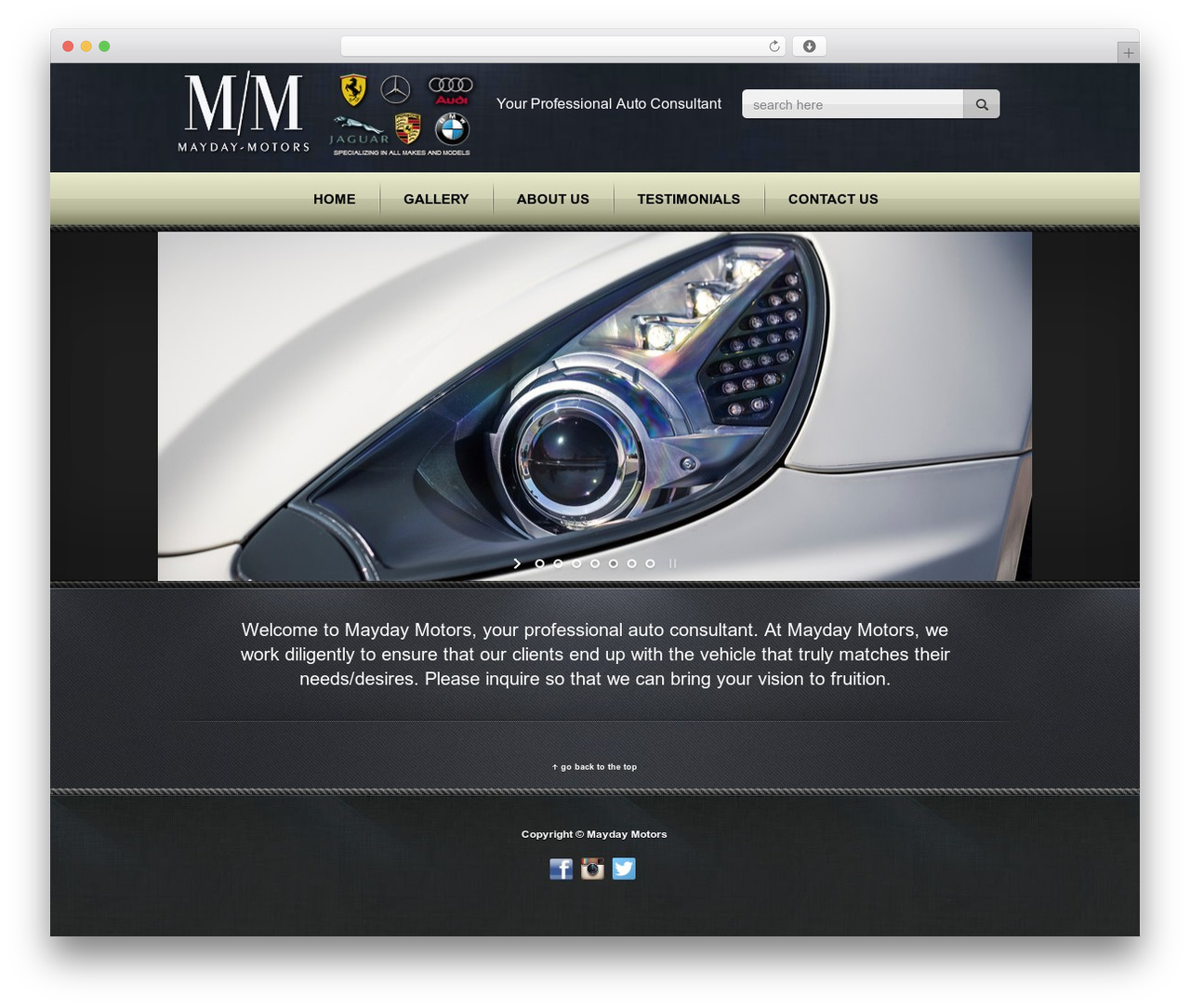 Radial Premium Theme motors WordPress theme - mayday-motors.com