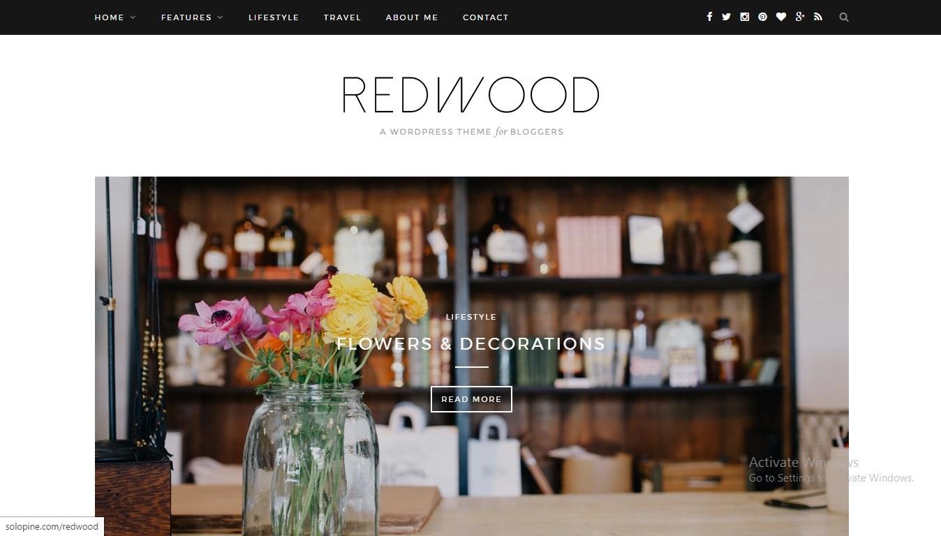 Redwood | Shared By VestaThemes.com WordPress blog template