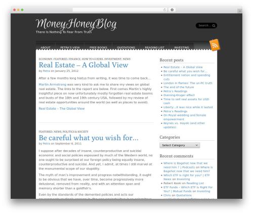 Snowblind theme WordPress free - moneyhoneyblog.com