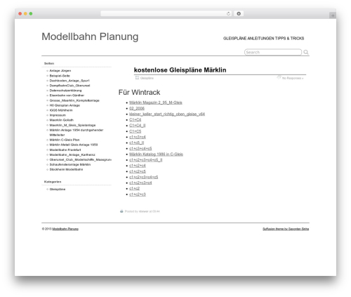 Suffu-scion WordPress theme - modelleisenbahn-planung.de