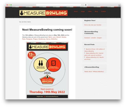 Swatch WordPress theme - measurebowling.org