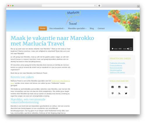 The7 WordPress travel theme - marluciatravel.com