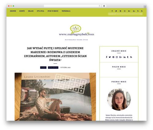 Untold Stories WordPress template - mariagrzybek.com