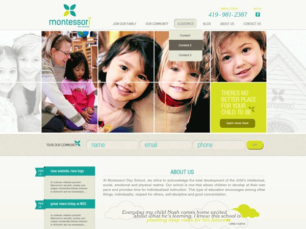 WordPress template Montessori Toledo