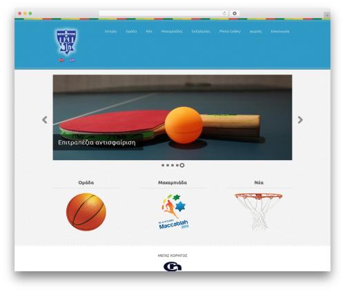 WordPress theme Swatch - maccabi.gr