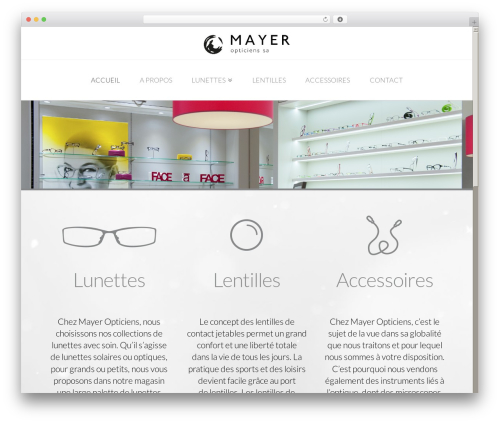 X WordPress theme - mayeropticiens.ch