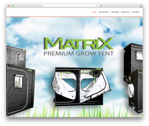 AccessPress Parallax WordPress template - matrixgrowtent.com