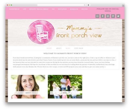 Best WordPress theme Flourish Theme - mommysfrontporchview.com
