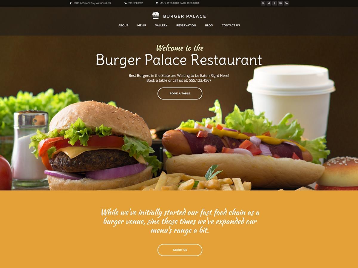 Burgerpalace premium WordPress theme