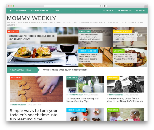 Codilight WordPress theme - mommyweekly.com