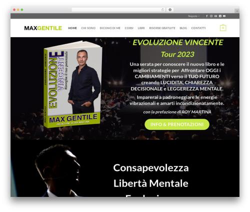 Flatsome WordPress website template - maxgentile.it